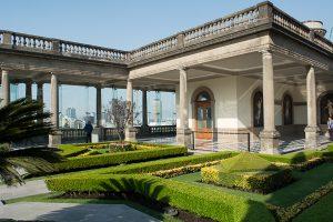 Garden sitting atop Castillo de Chapultepec en Bosque de Chapultepec