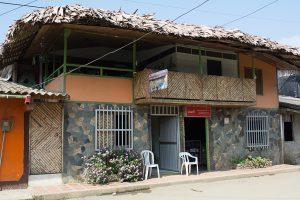 The front of the Posada Ecoturistica El Valle, Bahia Solano