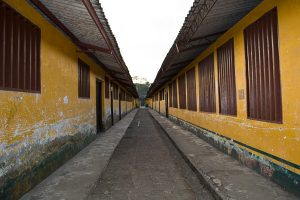 Row of classrooms at the main school in El Valle Bahia Solano