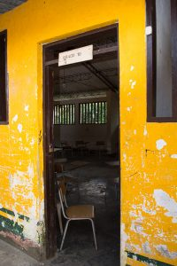 Tenth grade classroom at school in El Valle, Bahia Solano