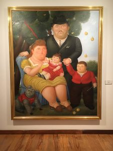 Botero painting of family in Museo Botero