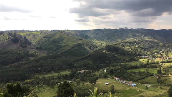 Jut outside of Salento, Colombia looking towards the mountains